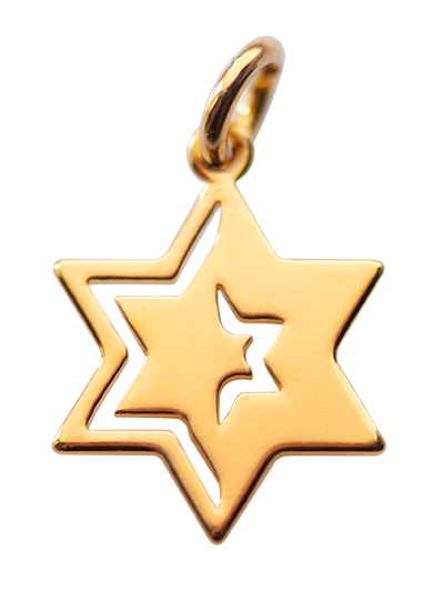 Star of David </br> gold plated