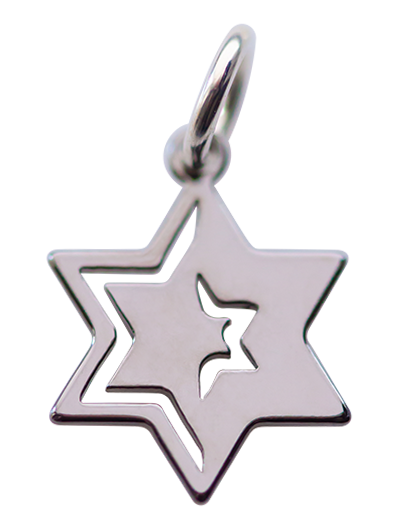 Star of David </br> ruthenium plated