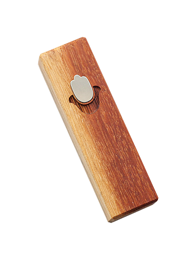 Mezuzah with Chamsa </br> small red