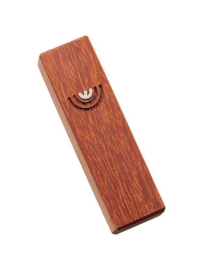Mezuzah with menorah </br> small red