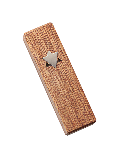 Mezuzah with Star of David </br> small white