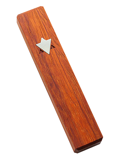 Mezuzah with Star of David </br> medium red